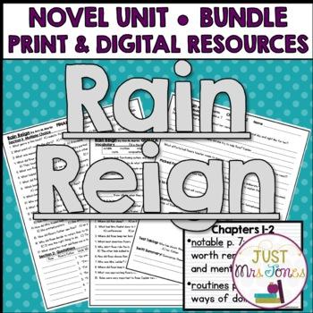 Rain Reign Novel Unit