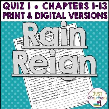 Rain Reign Quiz 1 (Ch. 1-13)