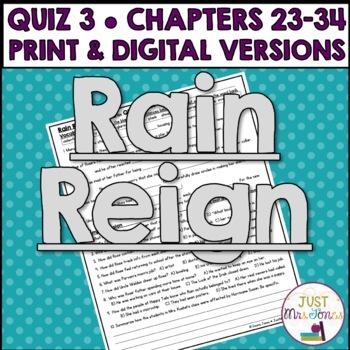 Rain Reign Quiz 3 (Ch. 23-34)