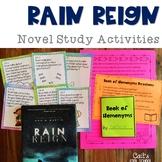 Rain Reign Novel Study Activities