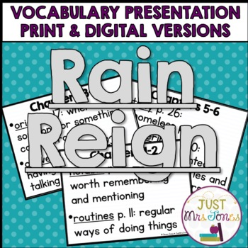Rain Reign Vocabulary Presentation
