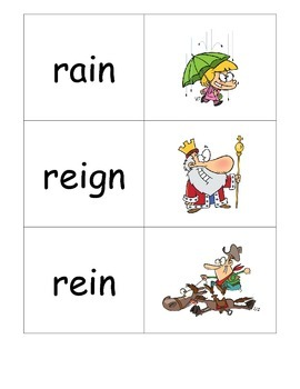 Rain, Reign or Rein? Homophone Posters and Sorts