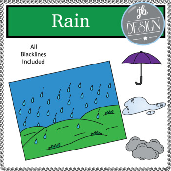 Rain Scene (JB Design Clip Art for Personal or Commercial Use)