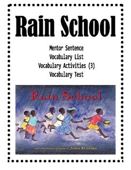 Rain School: Mentor Sentence and Vocabulary Activities