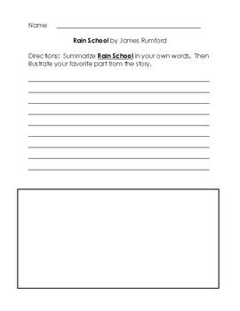 Rain School by James Rumford - Writing Tasks