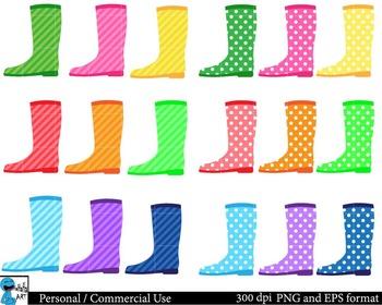 Rain Set Clipart Digital Clip Art Graphics 53 images cod82