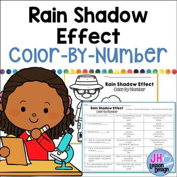 Rain Shadow Effect: Color-By-Number by JH Lesson Design | TpT