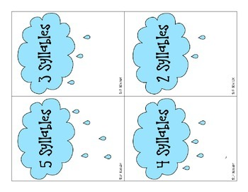 Rain Shower Syllables: A Multisyllabic Word Activity