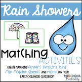 Rain Showers Matching Activities:  Letters, Numbers, Colors, and More