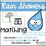 Rain Showers Matching Activities for Toddlers, Preschool,
