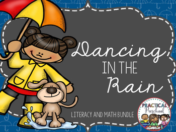 Preschool Literacy and Math Centers {Rain Showers}