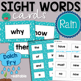 Rain Sight Words