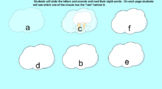 Rain Sight Words and Letters