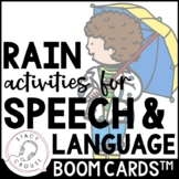 Rain Speech and Language Activities BOOM CARDS™ Distance Learning