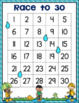 "Rain | Spring ""Race to 30""  Math Game"