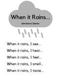 Rain & The 5 Senses Sentence Stems