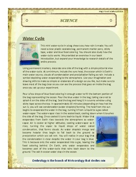 Rain Themed Nature Education Unit-Stage 2 (Magic Forest Academy)