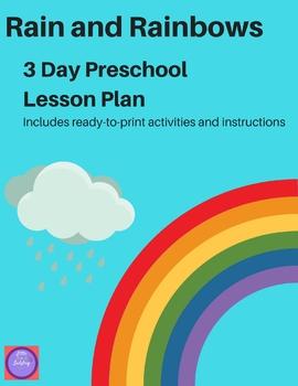 Rain and Rainbow Preschool Lesson Plans and Activities