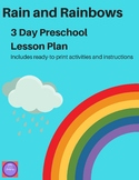Rain and Rainbow Preschool Lesson Plans and Activities