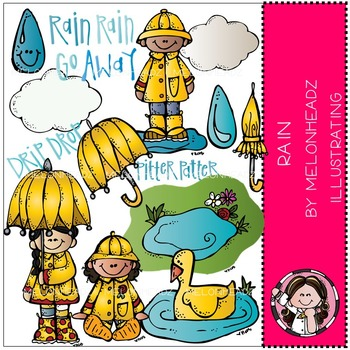 Rain clip art - COMBO PACK- by Melonheadz