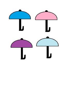 Rain drop and Umbrella Color Matching Activity for Preschool & Special Education