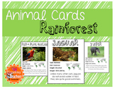 Rain forest Animal Cards