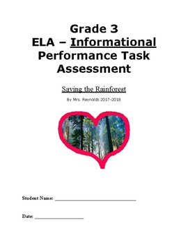 Rain-forest Performance Task-Information Writing