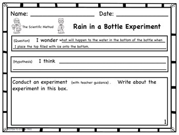 Rain in a Bottle (a mini rain cycle)  Science Experiment