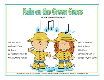 Rain on the Green Grass - Pentatonic Singing & Playing Activities