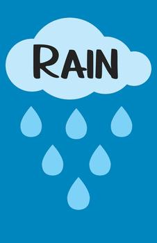 Rain or Shine Bulletin Board/Door Decor set