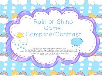 Rain or Shine Game: Compare/Contrast