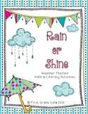 Rain or Shine {Weather Theme} Math & Literacy Activities
