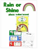 MATH: Rain or Shine Themed Place Value Scoot (Assessment)