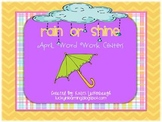 Rain or Shine...April Word Work Centers