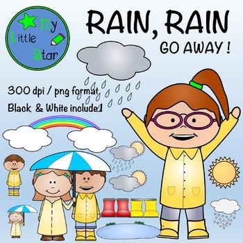 Rain, rain, Go Away !  Clipart