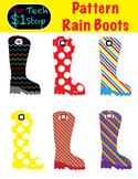 Rainboot Clipart * Patterns  * Summer * Spring * Rain