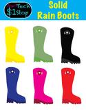 Rainboot Clipart * Solid Colors * Summer * Spring * Rain