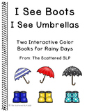 Rainboots and Umbrellas - Interactive Describing Book
