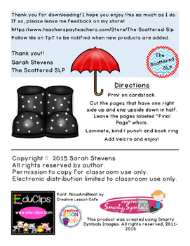 Rainboots and Umbrellas - Interactive Describing Book