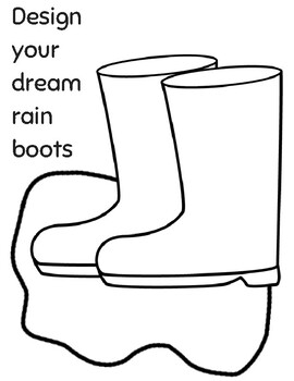 Rainboots coloring