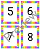 Rainbow 1-120 number cards
