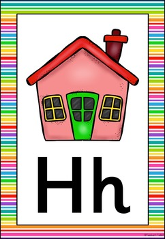 Rainbow 1 Themed Alphabet Posters Frieze {UK Teaching Resource}