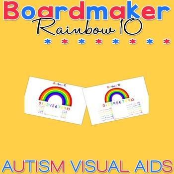 Rainbow 10 - learn 10 bonds - practice addition