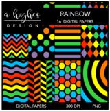 12x12 Digital Paper Set: Rainbow {A Hughes Design}