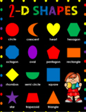 Rainbow 2-D SHAPES Poster