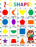 Rainbow 2-D SHAPES Poster White