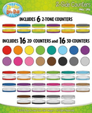 Rainbow 2-Sided Circle Counters Clipart {Zip-A-Dee-Doo-Dah Designs}