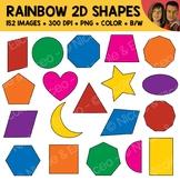 Rainbow 2D Shape Clipart