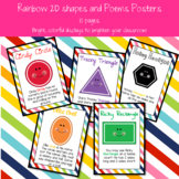 Rainbow 2D Shapes and Poems Poster