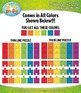 Rainbow 3 Piece Puzzles Clipart — Includes 48 Graphics!